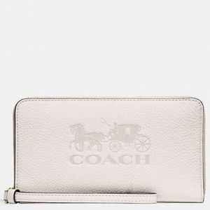 Coach NWT White Logo Wallet / Phone Holder
